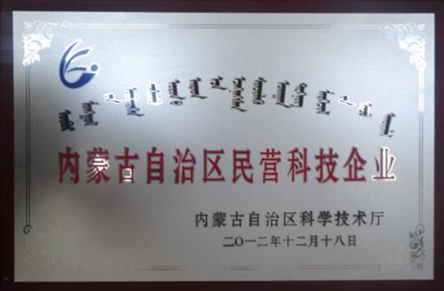内蒙古自治区民营科技企业